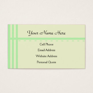 Fresh Start Business Card Template