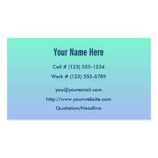 Fresh Start Profile And Business Card