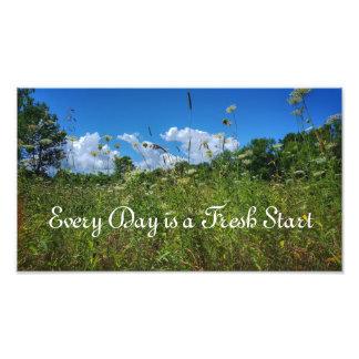 Fresh Start Quote Photo Print