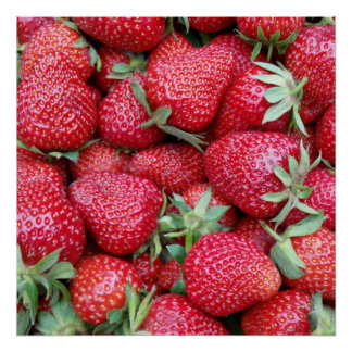 fresh strawberries 1 poster