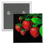 Fresh Strawberries 2 Inch Square Button