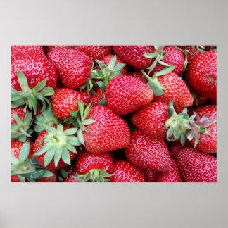 fresh strawberries 2 poster