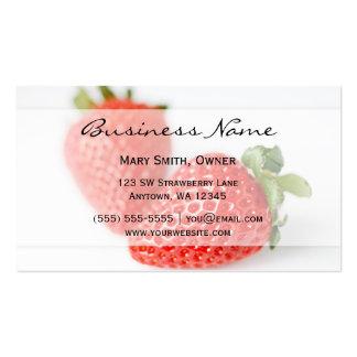 Fresh Strawberries Business Card