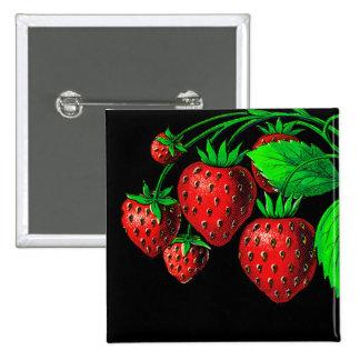 Fresh Strawberries Button