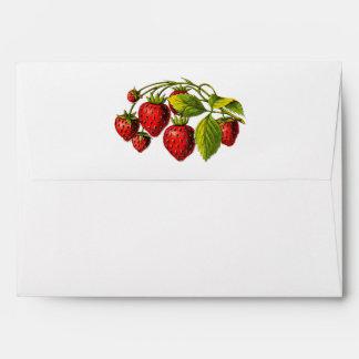 Fresh Strawberries Envelopes