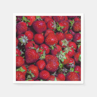Fresh Strawberries Fruit Red Delicious Paper Napkin