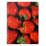 Fresh Strawberries Note Books