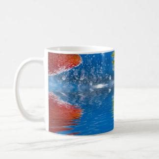 Fresh Strawberries Splashing Into Water Coffee Mug