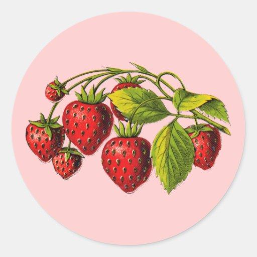 Fresh Strawberries Stickers