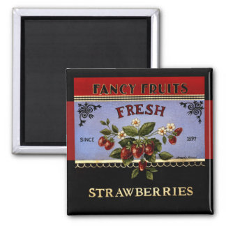 Fresh Strawberries Vintage Magnet