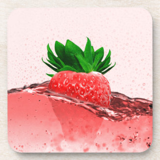 Fresh strawberry juice coaster