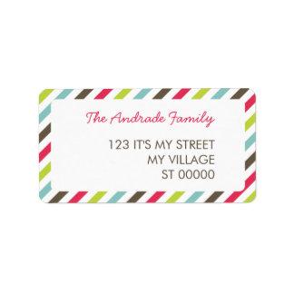 Fresh Stripe Pattern Personalized Address Labels