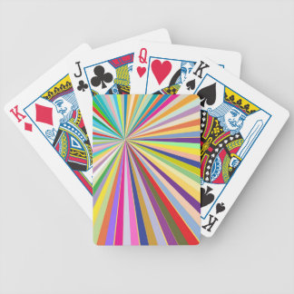 Fresh striped background bicycle playing cards