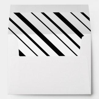Fresh Stripes Pre-Addressed Envelopes