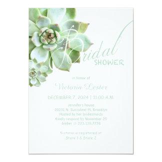 Fresh Succulent Bridal Shower Card