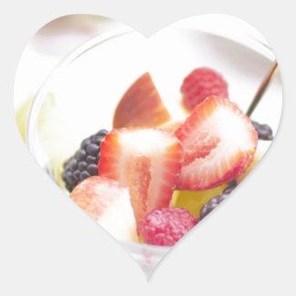 Fresh Summer Fruit Salad Heart Sticker