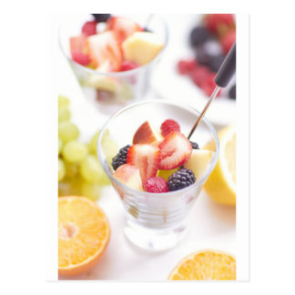 Fresh Summer Fruit Salad Postcard