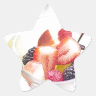 Fresh Summer Fruit Salad Star Sticker