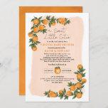 Fresh Summer Orange Citrus Virtual Baby Shower Invitation