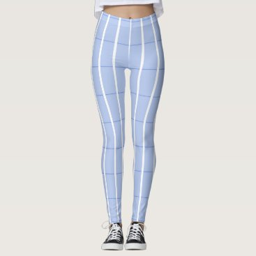 Beach Themed Fresh-Summer-Plaid's-Blue(c) -LEGGING'S_XS-XL Leggings
