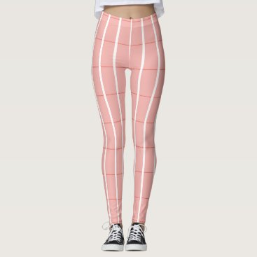 Beach Themed Fresh-Summer-Plaid's-Peach(c) -LEGGING'S_XS-XL Leggings