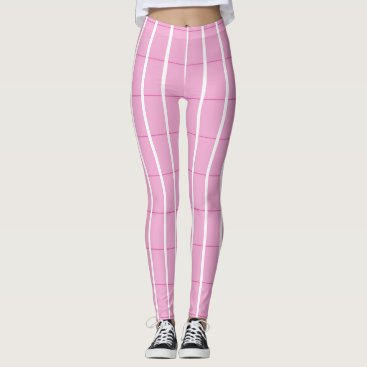 Beach Themed Fresh-Summer-Plaid's-Pink(c) -LEGGING'S_XS-XL Leggings