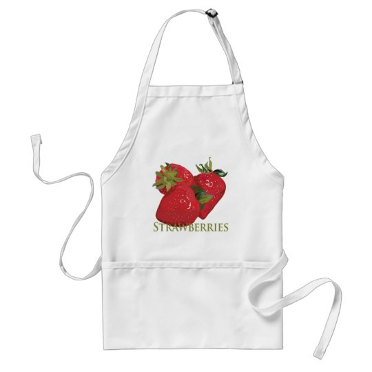 Fresh Summer Strawberries Adult Apron