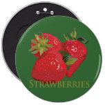 Fresh Summer Strawberries Button