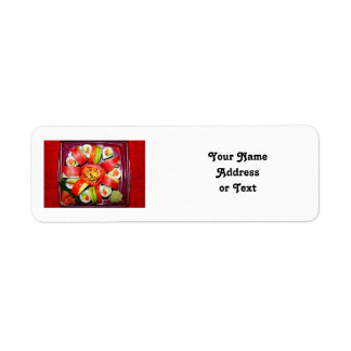 Fresh Sushi Platter Return Address Labels