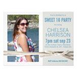 Fresh Sweet 16 Photo Birthday Party Announcement