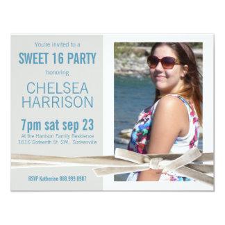 Fresh Sweet 16 Photo Birthday Party Card