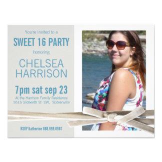 Fresh Sweet 16 Photo Birthday Party Custom Invitation