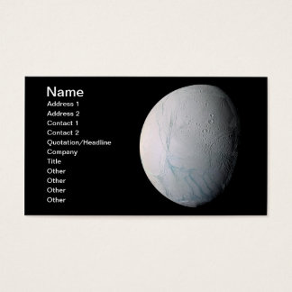 Fresh Tiger Stripes on Enceladus Business Card