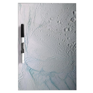 Fresh Tiger Stripes on Enceladus Dry-Erase Board