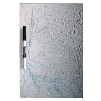 Fresh Tiger Stripes on Enceladus Dry-Erase Board