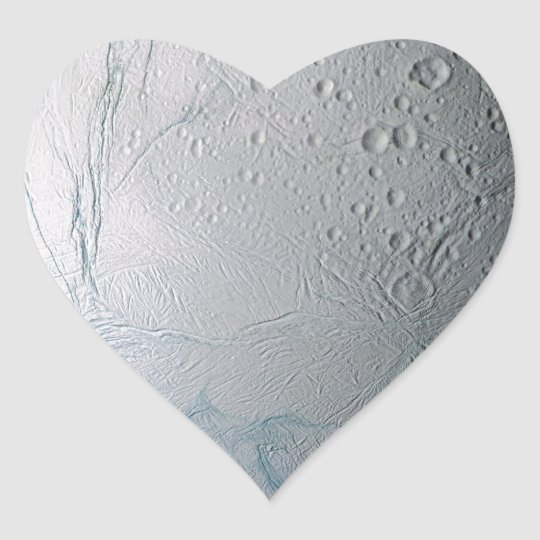 Fresh Tiger Stripes on Enceladus Heart Sticker