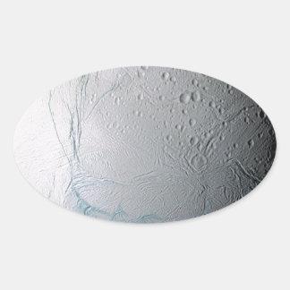 Fresh Tiger Stripes on Enceladus Oval Sticker