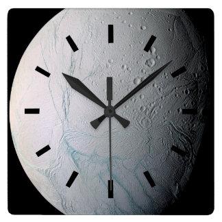 Fresh Tiger Stripes on Enceladus Square Wall Clock