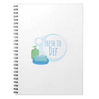 Fresh to Def Spiral Notebooks