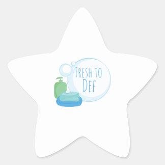 Fresh to Def Star Sticker