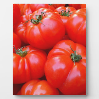 fresh tomatoes display plaques