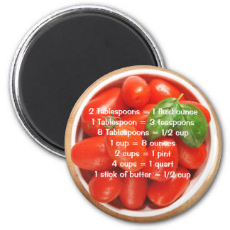 Fresh Tomatoes with Measurement Equivalents Magnet