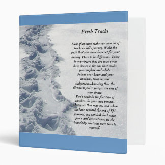 Fresh Tracks Inspirational 3 Ring Binder