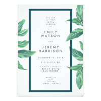 Fresh Tropical Island Beach Wedding Invitation