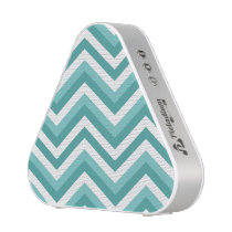Fresh Turquoise Aquatic chevron zigzag pattern Bluetooth Speaker
