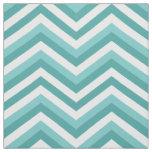 Fresh Turquoise Aquatic chevron zigzag pattern Fabric