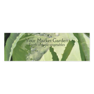 Fresh vegetable business card