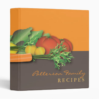 Fresh Vegetable Family Recipe Cookbook Binder