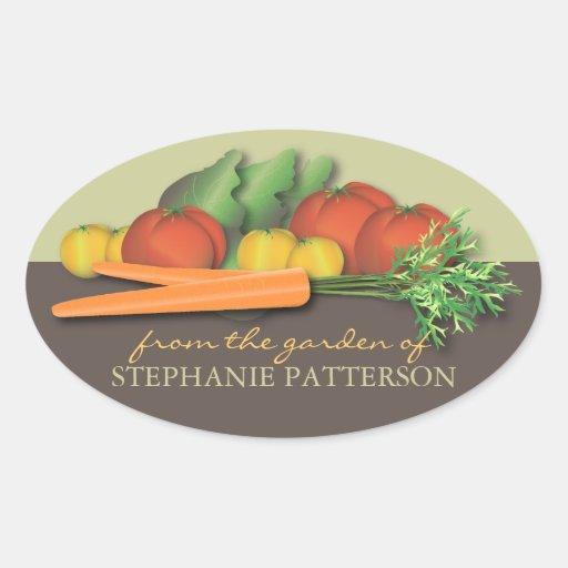 Fresh Vegetable From the Garden Label Sticker