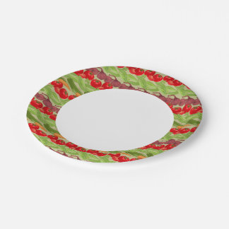 Fresh Vegetable Pattern Paper Plate